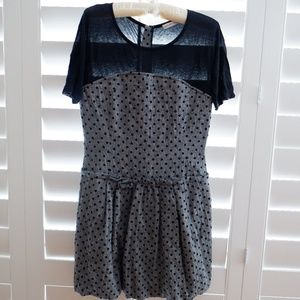 See by Chloe bubble hem polka dot dress